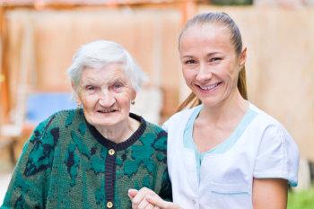 senior woman suffering dementia